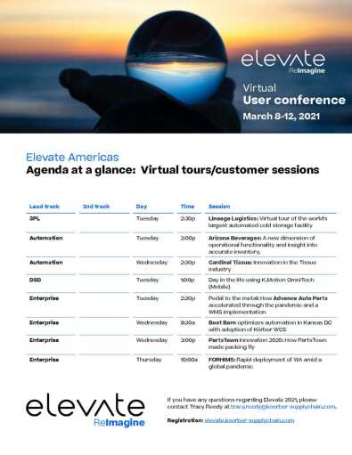 Virtual Tours - Customer Sessions Agenda